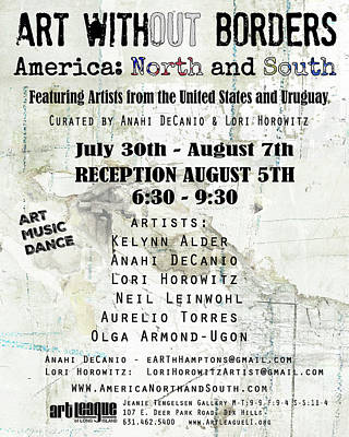 Painting - Art Without Borders - America North And South by Anahi DeCanio