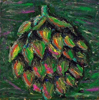 Artful Artichoke Original by Davis Elliott