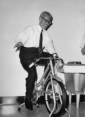 Arthur Goldberg Rides Print by Underwood Archives