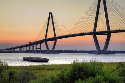 Dustin Photograph - Arthur Ravenel Jr. Bridge Sunset by Dustin K Ryan
