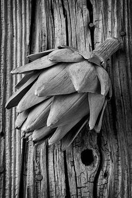Artichoke Photograph - Artichoke In Black And White by Garry Gay