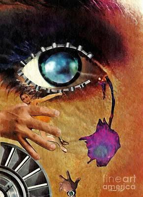 Eyes Mixed Media - Artificial Tears by Sarah Loft