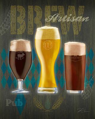 Beer Mixed Media - Artisan Brew by Shari Warren