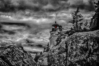 Artistic Bass Harbor Lighthouse In Acadia Print by Jeff Folger