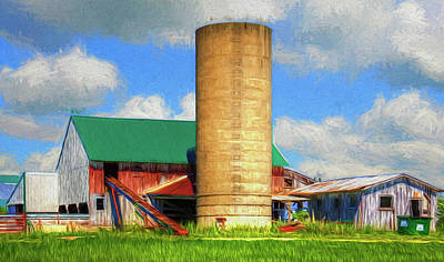 Pallet Knife Photograph - Artistic Farm Landscape by William Sturgell