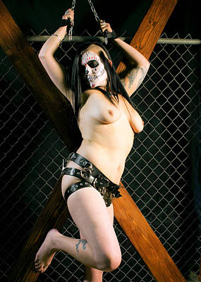 Chastity Belt Photograph - Artistic Nude With Chastity Belt  by Bill Mollet