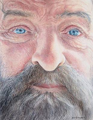 Eye Lashes Drawing - As He Ages by Shana Rowe Jackson