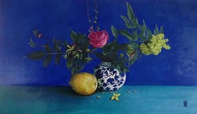 As Life Gives Roses And Lemons Original by Leena Blom-Hilden
