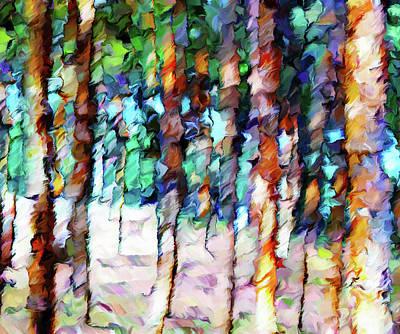 Abstract Realism Digital Art - As Summer Bids Farewell Abstract Realism by Georgiana Romanovna