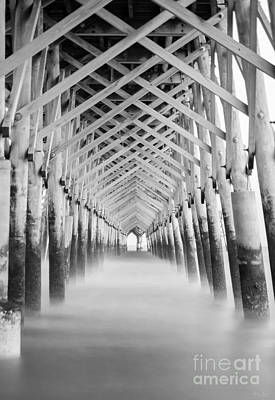 As The Water Fades Grayscale Print by Jennifer White
