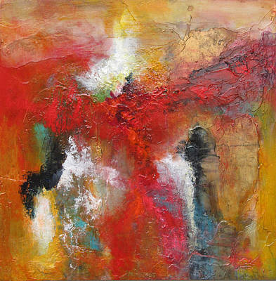Abstract Painting - Ascending Red by Marilyn Woods