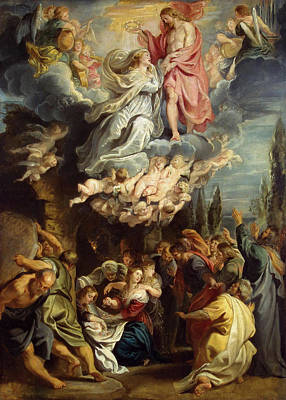 Ascension Painting - Ascension And Coronation Of The Virgin by Peter Paul Rubens