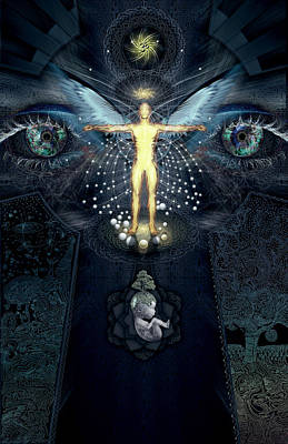 Ayahuasca Digital Art - Ascension And Rebirth by Alex Polanco