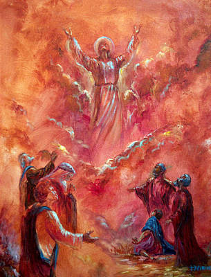 Transfiguration Painting - Ascension by Tommy  Winn