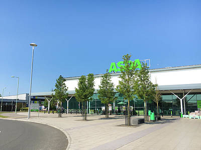 Food Stores Photograph - Asda Store by Tom Gowanlock