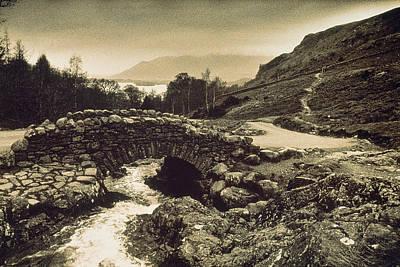 Stone Bridge Photograph - Ashness Bridge Cumbria England by Panoramic Images