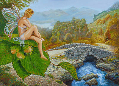 Celtic Art Painting - Ashness Faery by Tomas OMaoldomhnaigh