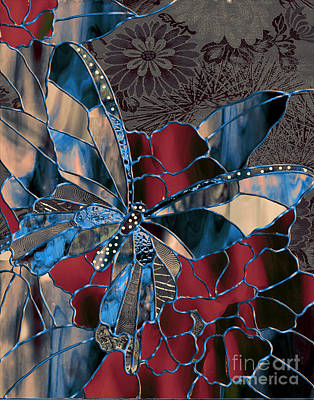 Tiffany Painting - Asian Butterfly by Mindy Sommers