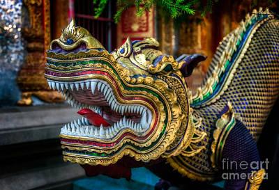 Dragon Digital Art - Asian Temple Dragon by Adrian Evans