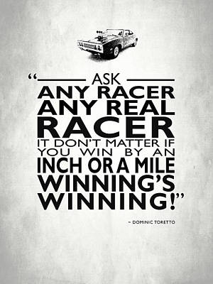 Ask Any Racer Print by Mark Rogan