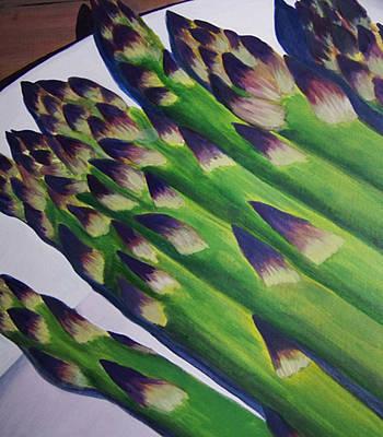 Asparagus Original by Charlene Cloutier