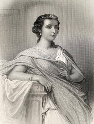 Impression Drawing - Aspasia Of Milet, Born Around 460 480 by Vintage Design Pics