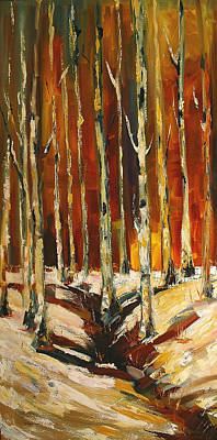 Painting - Aspen Fall by Diane Whitehead