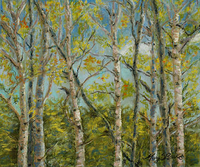 Aspen Glow Original by Mary Benke