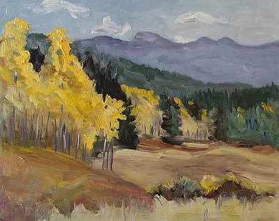 Aspen Tree Splash Of Fall Steamboat Springs Colorado Print by Zanobia Shalks