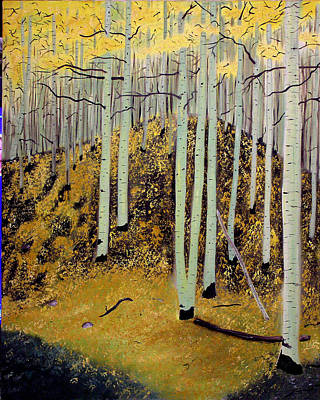 Czappa Painting - Aspens by Bill Czappa