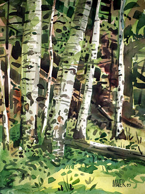 Canyon Painting - Aspens In Pecos Canyon by Donald Maier