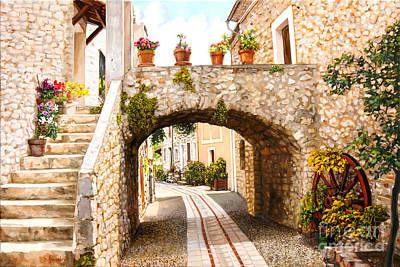Painting - Aspremont Village In Provence by Dominique Amendola