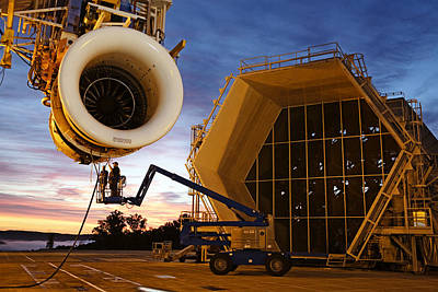 Cranes And Derricks Etc Photograph - Assembling An Energy Efficient Jet by Tyrone Turner