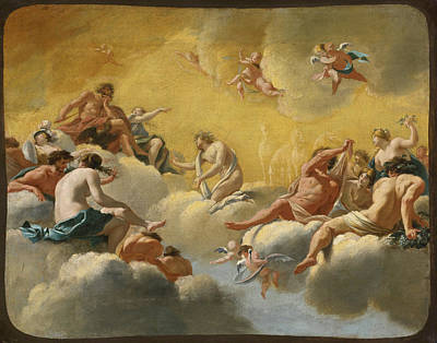 Painting - Assembly Of The Gods by Simon Vouet