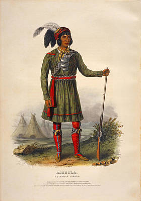 Drawing - Asseola A Seminole Leader by Unknown