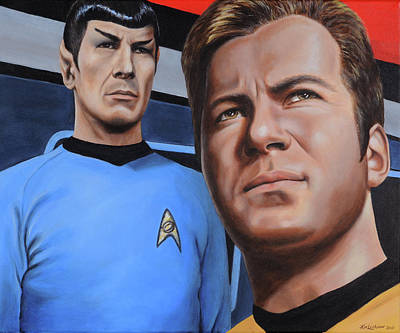 Star Trek Painting - Assessing A Formidable Opponent by Kim Lockman