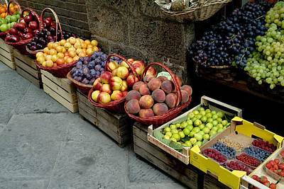 Assorted Fresh Fruits Of Berries Print by Todd Gipstein