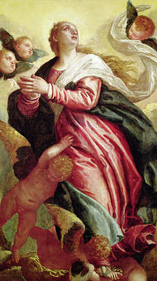 Heavenwards Painting - Assumption Of The Virgin by Veronese