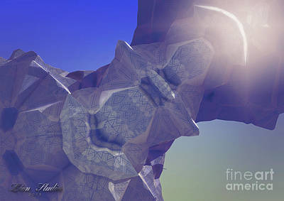 Abstract Digital Art - Asteroid Out My Window by Melissa Messick