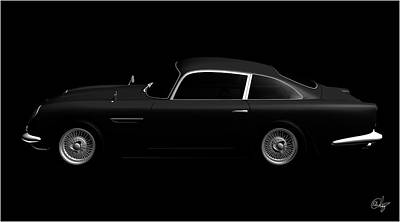Sean Connery Mixed Media - Aston Martin 1963 Vintage by Edier C
