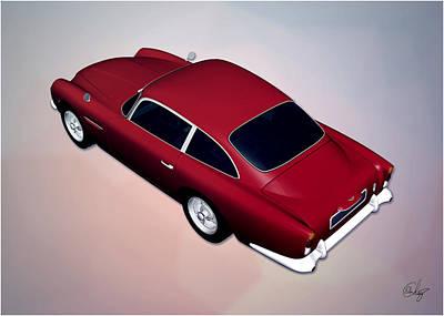 Sean Connery Mixed Media - Aston Martin Bond's Car by Edier C
