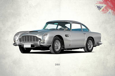 Aston Martin Db5 Print by Mark Rogan