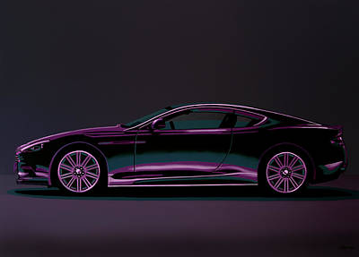 Carlo Painting - Aston Martin Dbs V12 2007 Painting by Paul Meijering