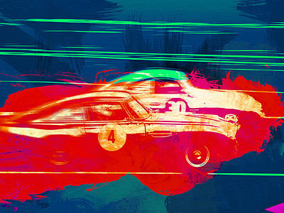 Aston Martin Vs Porsche Print by Naxart Studio