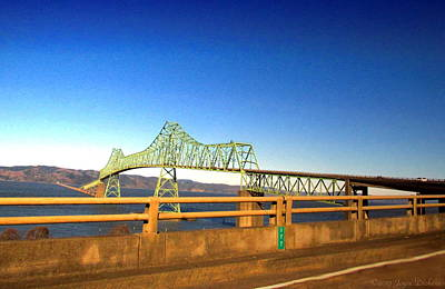 Scenic Photograph - Astoria Megler Bridge Drive By Shot by Joyce Dickens