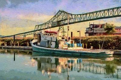 River Painting - Astoria Waterfront, Scene 1 by Jeff Kolker