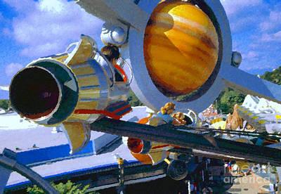 Astros Digital Art - Astro Orbiter by David Lee Thompson