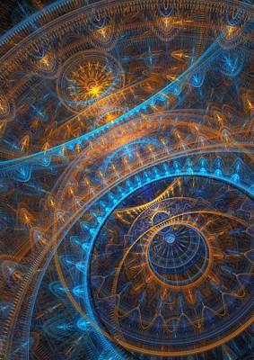 Abstract Digital Digital Art - Astronomical Clock by Martin Capek