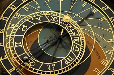 Photograph - Astronomical Clock- Prague by Kobby Dagan