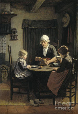 Adolph Painting - At Grandmother's by Celestial Images